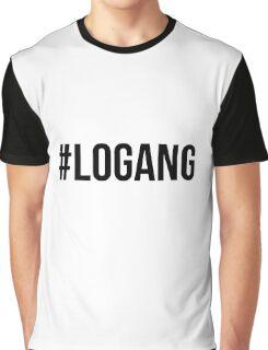 #LOGANG - Black Font Graphic T-Shirt