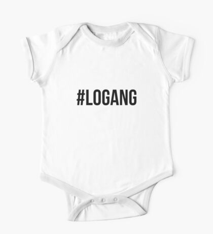 #LOGANG - Black Font One Piece - Short Sleeve