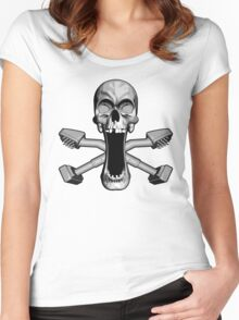 Carpet Layer Skull Women's Fitted Scoop T-Shirt