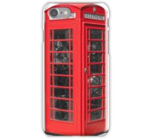 Red telephone iPhone Case/Skin