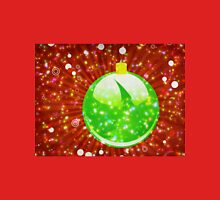 Green Christmas ball on sparkle background Unisex T-Shirt