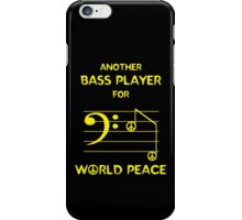 Another Bass Player for World Peace iPhone Case/Skin