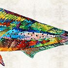 Colorful Dolphin Fish by Sharon Cummings by Sharon Cummings