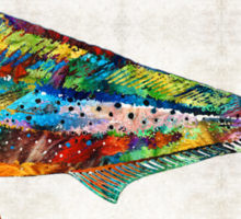 Colorful Dolphin Fish by Sharon Cummings Sticker