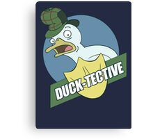 Duck-Tective Canvas Print