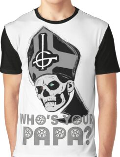 WHO'S YOUR PAPA? - monochrome Graphic T-Shirt