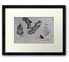 sketch book ginger body Framed Print