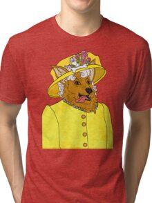 Corgi Queen Tri-blend T-Shirt