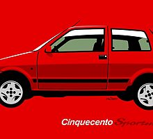 Fiat Cinquecento Sporting Red by car2oonz