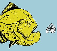 Pac-Man Piranha by GMackay