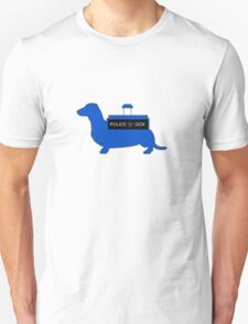 Dachshund Lovers - Tardis Blue  Unisex T-Shirt