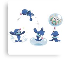 Pokemon /A - Popplio Party Canvas Print