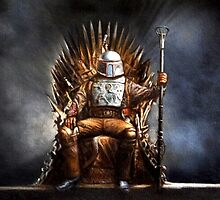 Boba Fett - Game of Thrones - Iron Throne by zenoconor