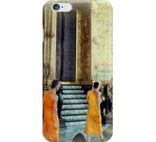 Monks at the Palace iPhone Case/Skin