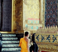 Monks at the Palace Sticker