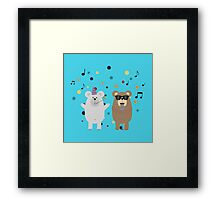 Party Bears singing Framed Print