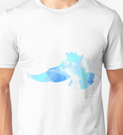 The flight of a blue dove  Unisex T-Shirt