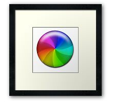 Rainbow Wheel Framed Print