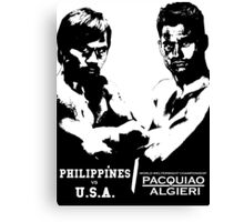 PACQUIAO-ALGIERI FIGHT Canvas Print
