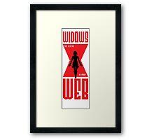 Widows Web Vodka Framed Print