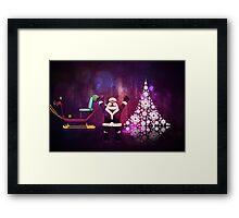 Happy Santa Claus Framed Print