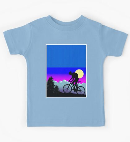 BICYCLE RIDE: The Whimsical Psychedelic Mountains Kids Tee
