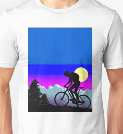 BICYCLE RIDE: The Whimsical Psychedelic Mountains Unisex T-Shirt