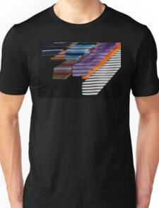 colorful ties for men on black background Unisex T-Shirt
