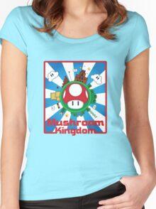 Mushroom Kingdom Women's Fitted Scoop T-Shirt