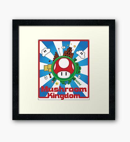 Mushroom Kingdom Framed Print
