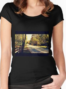 Autumn Road 1.1 Women's Fitted Scoop T-Shirt