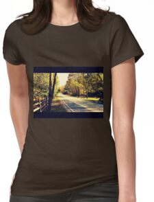 Autumn Road 1.1 Womens Fitted T-Shirt