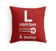 Lafayette Square Northbound Throw Pillow