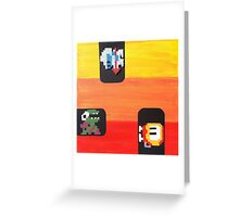 Dig Dug (Paint 'N' Beads) Greeting Card