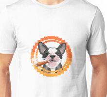 Cute dog head with a Cuban cigar Unisex T-Shirt