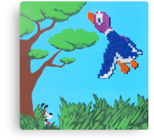 Duck Hunt Purple (Paint 'N' Beads) Canvas Print