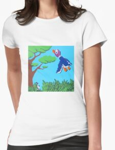 Duck Hunt Purple (Paint 'N' Beads) Womens Fitted T-Shirt