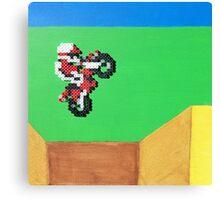 Excitebike (Paint 'N' Beads) Canvas Print