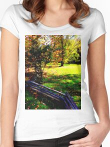 Zig Zag Fenced 1.1 Women's Fitted Scoop T-Shirt