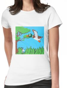 Duck Hunt Brown (Paint 'N' Beads) Womens Fitted T-Shirt
