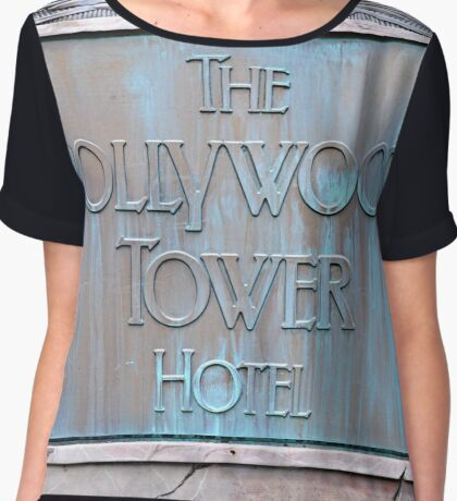Hollywood Tower Hotel Chiffon Top