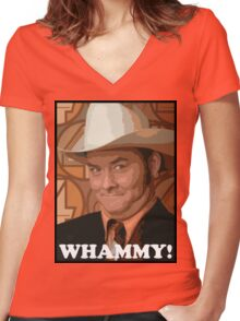Champ Kind - Whammy! Women's Fitted V-Neck T-Shirt
