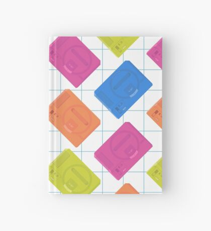 Megadrive neon (white) Hardcover Journal