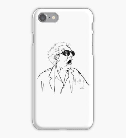 Back To The Future Doc Emmett Brown Sketch iPhone Case/Skin