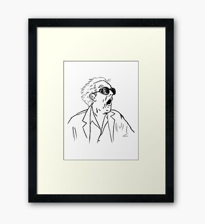 Back To The Future Doc Emmett Brown Sketch Framed Print
