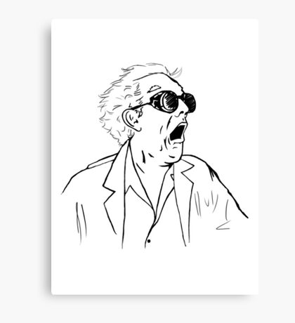 Back To The Future Doc Emmett Brown Sketch Canvas Print