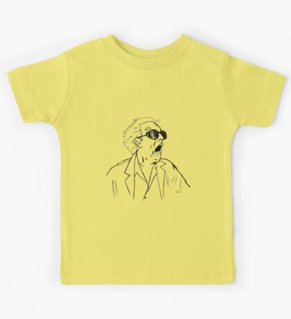 Back To The Future Doc Emmett Brown Sketch Kids Tee