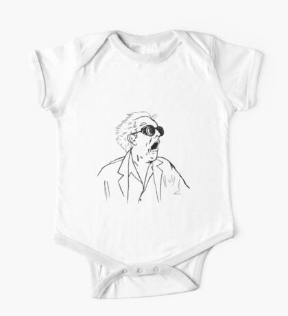 Back To The Future Doc Emmett Brown Sketch One Piece - Short Sleeve