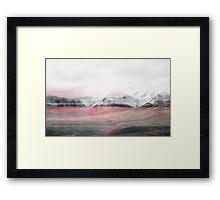 Rose Fog Framed Print