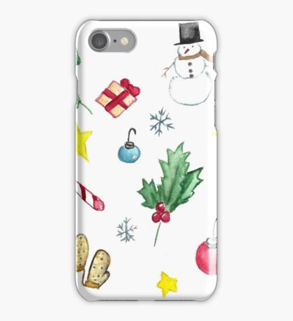 Christmas Doodles  iPhone Case/Skin